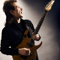 Sergey Osipov in ecstasy with guitar Ibanez USRG30